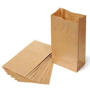 Brown paper sandwich bag