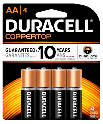 Regular Duracell Non rechargeable batteries
