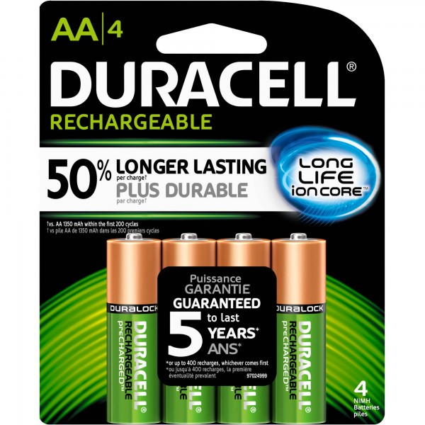 Rechargeable Duracell Batteries